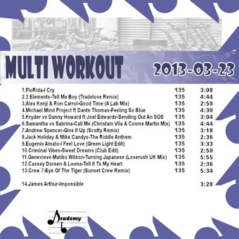MultiWorkout#2013-03-23 (Bring The Oldies Back)